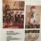 McCalls Sewing Pattern 7285 Let It Snow Christmas Snowmen Ornaments Uncut