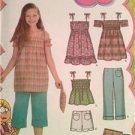 Simplicity Sewing Pattern 4614 Childs Girls Pants Shorts Dress Tunic Top 7-14