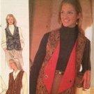 Simplicity Sewing Pattern 7910 Ladies Misses Set of Reversible Vests Size 12-16