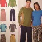 Simplicity Sewing Pattern 1503 Mens Misses Knit Top Pants Size XS-XL Uncut