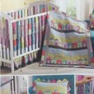 Simplicity Sewing Pattern 1384 Crib Sheet Dust Ruffle Quilt Size O/S Uncut