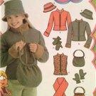 Simplicity Sewing Pattern 4818 Girls Jacket Vest Scarf Hat Size 7-16 Uncut