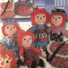Simplicity Sewing Pattern 5868 Raggedy Ann Andy Dolls Clothes Tote Bag Uncut