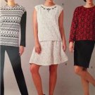 Simplicity Sewing Pattern 0466 Misses Tops Pants Slim Skirts Size 10-18 Uncut