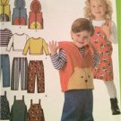 Simplicity Sewing Pattern 4383 Toddlers Boys Girls Pants Jumper Vest Top 1/2-4