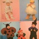 Simplicity Sewing Pattern 4453 Children Toddler Costume Duck Bunny Pumpkin 0,5-4