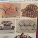 Simplicity Sewing Pattern 4382 Child Mini Furniture Loveseat Pillows Chairs UC