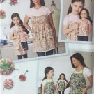 """Simplicity Sewing Pattern 1554 Childs Aprons 18"""" Doll Aprons Size S-L Uncut"""