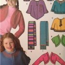 Simplicity Sewing Pattern 4386 Girls Shrug Capelets Hat Scarf Size XXS-S Uncut