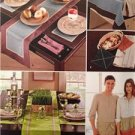 Simplicity Sewing Pattern 1336 0628 Table Accessories Aprons One Size Uncut