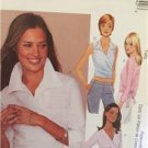 McCalls Sewing Pattern 3184 Ladies Misses Wrap Tops Size XS-MD 4-10 Uncut