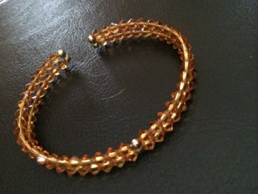 Swarovski Orange Crystal Bracelet Bangle