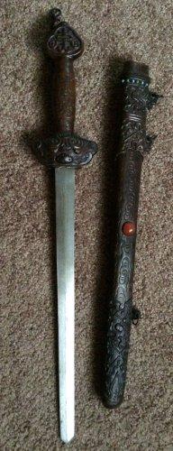 Beautiful Ornate Sword with Crystal Sheath