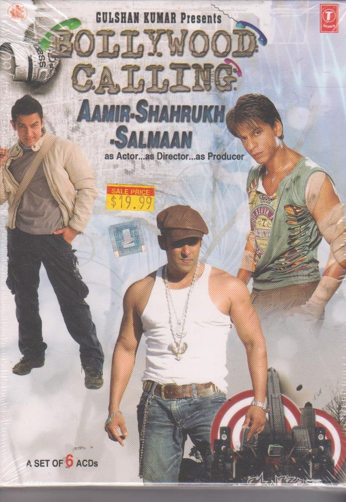 Bollywood calling - aamir , Shah Rukh , Salmaan   [6 Cd set  ] Hits Of Khans new