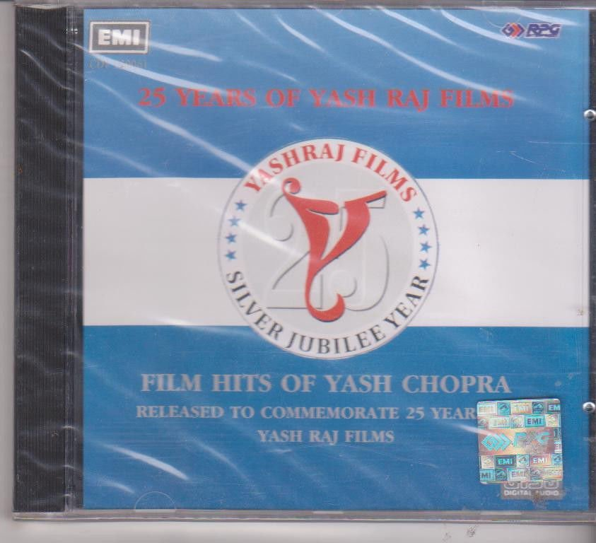 25 years Of yash Chopra  [Cd]  Hits Of yash chopra Films - UK Made Cd