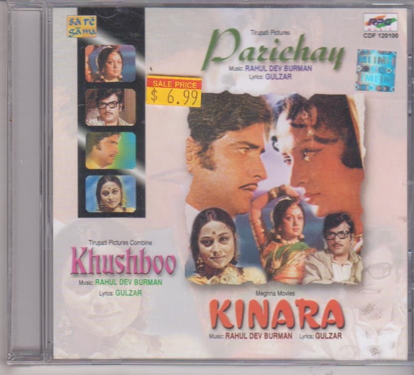 Parichay / Khushboo / Kinara [Cd] Music : R D Burman Lyrics : Gulzar