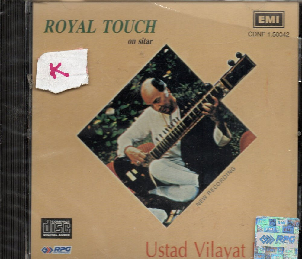 Royal Touch By Ust Vilayat Khan - Sitar  [Cd ] Uk Made Cd
