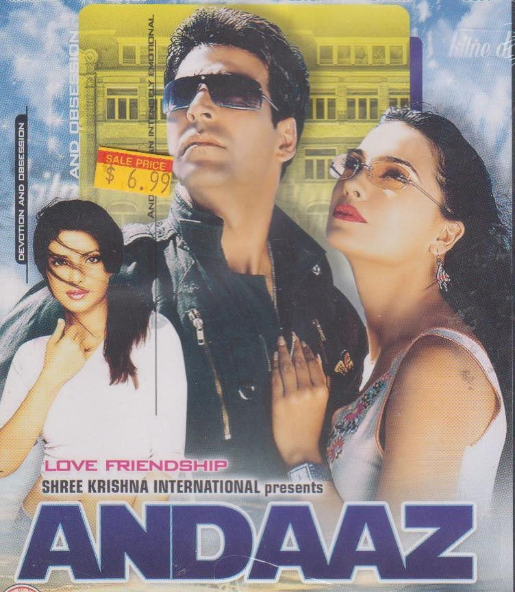 Andaaz - Priyanka chopra , lara dutta , Johny Lever  , Akshay Kumar [Dvd]