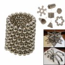 216pcs 3mm DIY Buckyballs Neocube Magic Beads Magnetic Toy Silver-Free Shipping