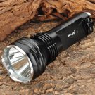 Small Sun ZY-T08 Cree XM-L T6 635lm 5-Mode White Light Flashlight Torch - Black (2 x 18650)