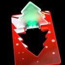 Mini Portable Christmas Tree Folding LED Card Light Green Light