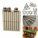 63pcs DIY Buckyballs Magnets Stripes Set Neocube Magnetic Toy Silver