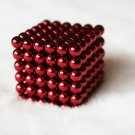 216pcs 3mm DIY Buckyballs Round Shape Neocube Magnet Toy Magic Ball Red