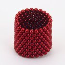 216pcs 3mm DIY Buckyballs Round Shape Neocube Magnet Toy Magic Ball Rose Red