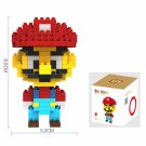 LOZ-9338 160pcs Cartoon Mario Plastic Mini Diamond Building Blocks Set DIY Educational Toy