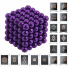 125pcs 5mm DIY Buckyballs Neocube Magic Beads Magnetic Toy Purple