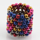 125pcs 5mm DIY Buckyballs Neocube Magic Beads Magnetic Toy Multi-color