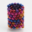125pcs 5mm DIY Buckyballs Neocube Magic Beads Magnetic Toy Purple & Dark Blue