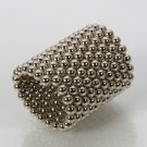 216pcs 5mm DIY Buckyballs Neocube Magic Beads Magnetic Toy Silver