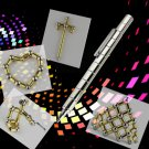 DIY Magnetic Pen with Refill & Steel Balls White
