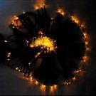 100 LED Light Solar String Lamp Festival Deco Yellow