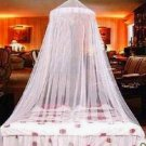 White Elegant Lace Bed Canopy Mosquito Net