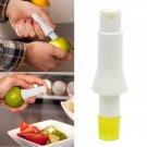 Plastic Stem Hand Press Fruit Juicer Squeezer Lemon Orange Citrus Spray Sprayer White & Yellow