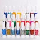 24 Colors 2-way Nail Art Polish Varnish Paint with Brush