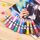 12 Colors 3D Finger Pen Nail Art Polish Set