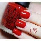 O.P.I Non-Chemical Environmental Friendly Water-based Nail Polish 15mL 1# Red