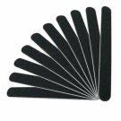 10 Professional Nail File Slim Buffing Sandpaper Black