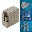 DIY 216pcs 5mm Buckyballs Neocube Magic Cube Magnetic Toy Silver