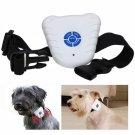 Ultrasonic Anti NO-Barking Pet Training Collars Dog Shock Bark Collar White