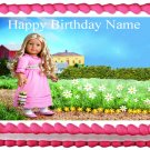 Edible American Girl CAROLINE image cake topper 1/4 sheet (10.5 x 8 inches)