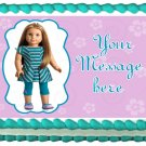 Edible American Girl MCKENNA image cake topper 1/4 sheet (10.5 x 8 inches)