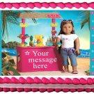 Edible American Girl KANANI image cake topper 1/4 sheet (10.5 x 8 inches)