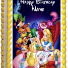 "Edible ALICE IN WONDERLAND image cake topper 1/4 sheet (10.5"" x 8"")"
