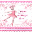 "ANGELINA BALLERINA Edible image cake topper 1/4 sheet (10.5"" x 8"")"