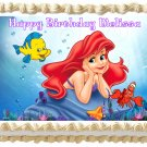 "Edible THE LITTLE MERMAID Ariel image cake topper 1/4 sheet (10.5"" x 8"")"