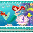 "Edible THE LITTLE MERMAID image cake topper 1/4 sheet (10.5"" x 8"")"